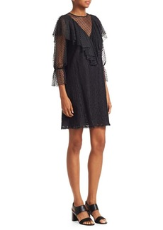 See by Chloé Sheer Lace Knit Dress