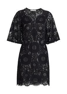 See by Chloé Short-Sleeve Lace Mini Dress