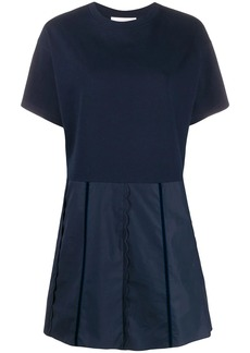 See by Chloé short sleeve scalloped details dress