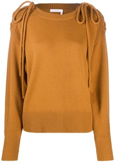 See by Chloé shoulder tie-fastened jumper