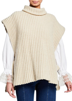 See by Chloé Side-Tie Turtleneck Sweater