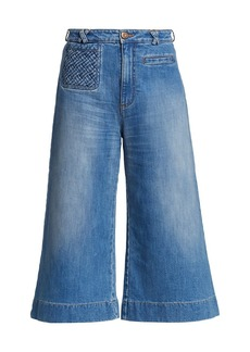 See by Chloé Signature Braided Denim Trousers