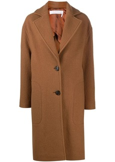 See by Chloé single-breasted wool coat