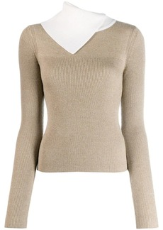 See by Chloé asymmetric layered sweater