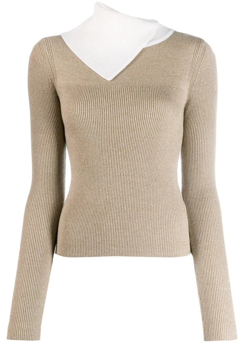 See by Chloé slashed turtleneck sweater