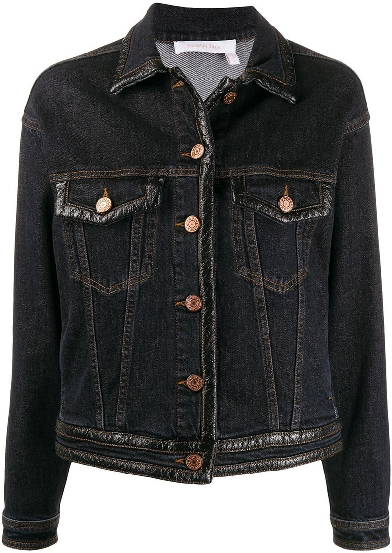 See by Chloé slim-fit denim jacket