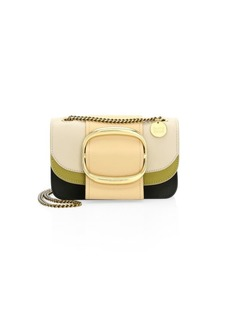 See by Chloé Small Hopper Leather Colorblock Crossbody Bag