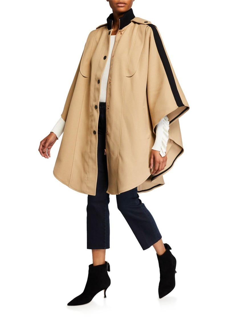 See by Chloé Snap-Front Cape Coat