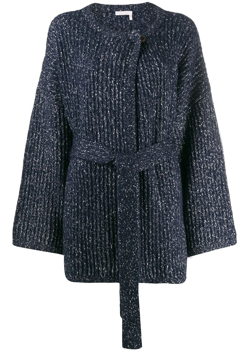 See by Chloé speckled chunky knit cardigan