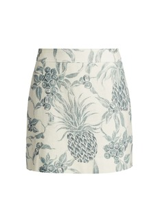 See by Chloé Spring Fruits Mini Ramie Skirt