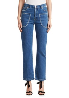 See by Chloé Stitched Denim Jeans