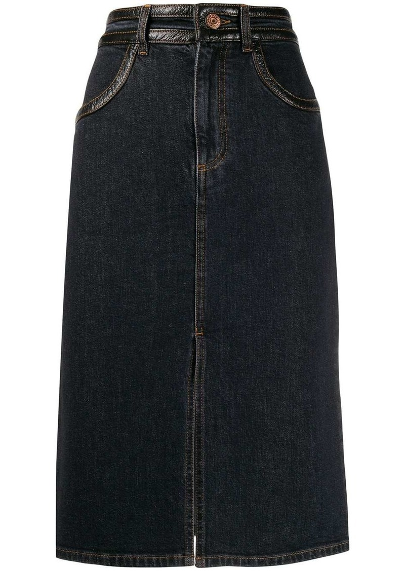 See by Chloé straight-fit denim skirt