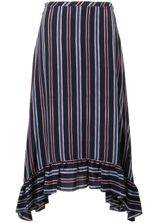 See by Chloé striped asymmetric skirt