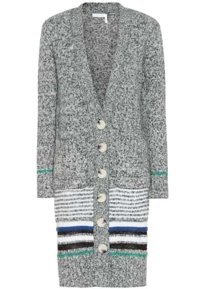 See by Chloé Striped cotton-blend cardigan