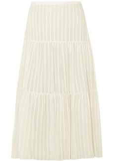 See by Chloé Striped Cotton-jacquard Skirt