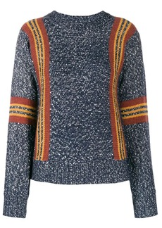 See by Chloé striped detail crewneck sweater
