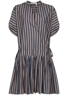 See by Chloé pleated striped dress