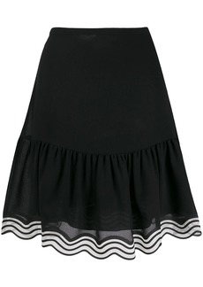 See by Chloé striped hem georgette skirt