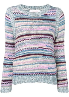 See by Chloé striped intarsia jumper
