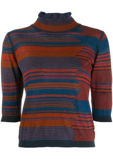 See by Chloé striped knitted top