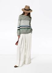 See by Chloé striped mélange knit jumper