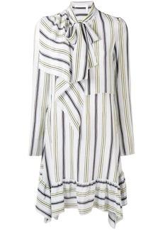 See by Chloé striped tie neck dress
