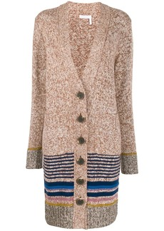 See by Chloé striped trim cardigan