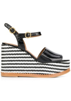 See by Chloé striped wedge sandals