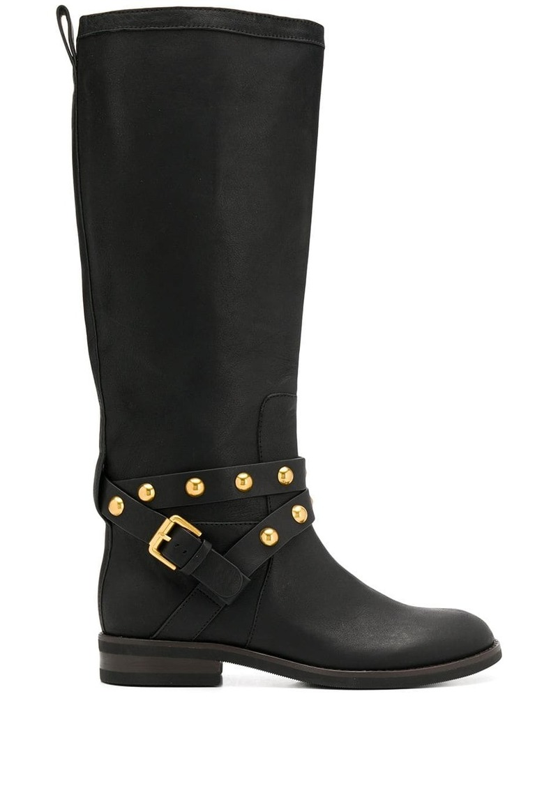See by Chloé studded knee high boots