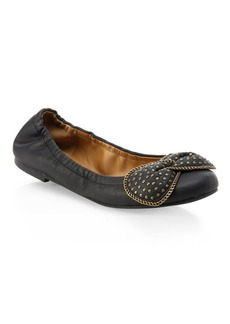See by Chloé Studded Leather Ballet Flats