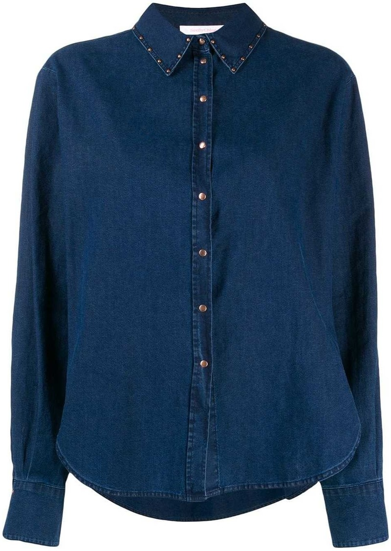 See by Chloé studded shirt