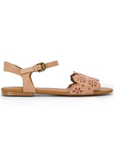 0922536aa35a See by Chloé See by Chloe Cutout Floral Flat Two-Band Slide Sandal ...