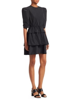 See by Chloé Taffeta Tiered Party Dress