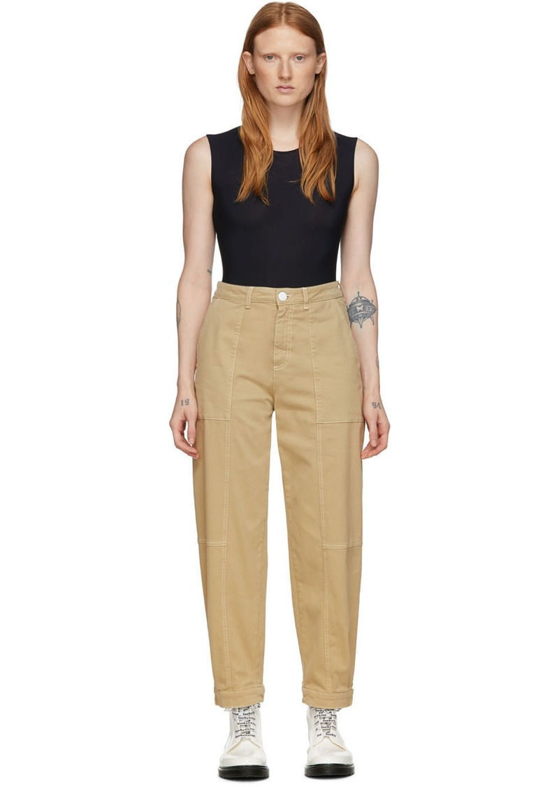 See by Chloé Tan Panelled Jeans