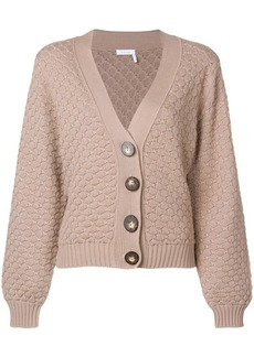 See by Chloé textured chunk-knit cardigan