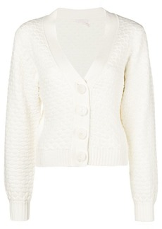 See by Chloé textured chunky-knit cardigan