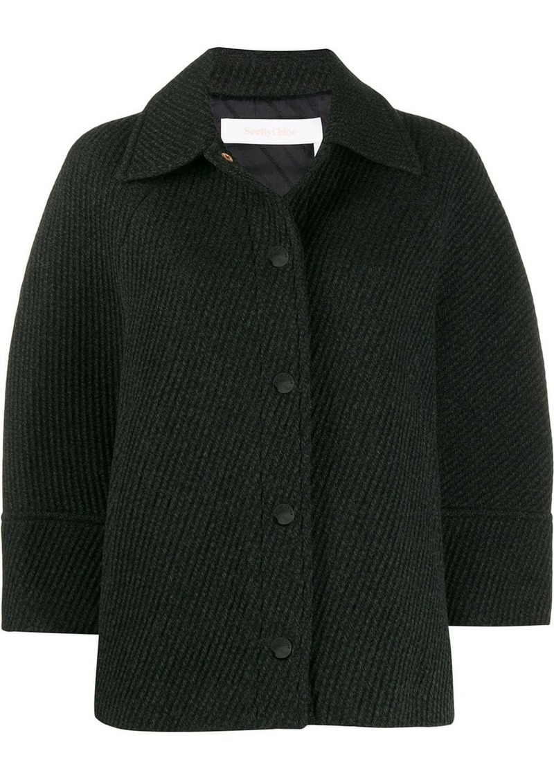See by Chloé textured fitted jacket