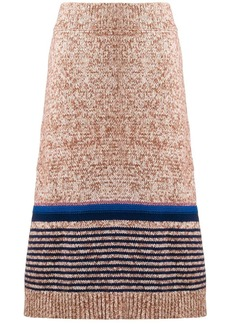 See by Chloé textured knit midi skirt