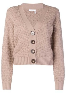 See by Chloé textured V-neck cardigan