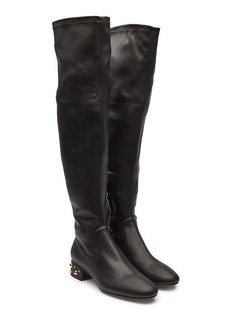 See by Chloé Thigh-High Boots with Embellishment