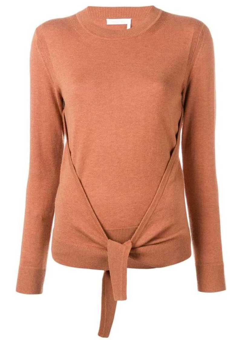 See by Chloé tie-front jumper