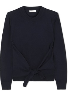 See by Chloé Tie-front Wool And Cotton-blend Sweater