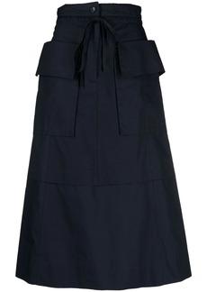 See by Chloé tie-waist midi skirt