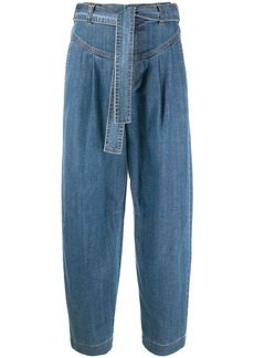 See by Chloé tie-waist wide-leg jeans