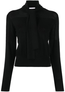 See by Chloé tied neck jumper