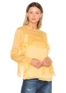 See by Chloé Tied Waist Long Sleeve Blouse