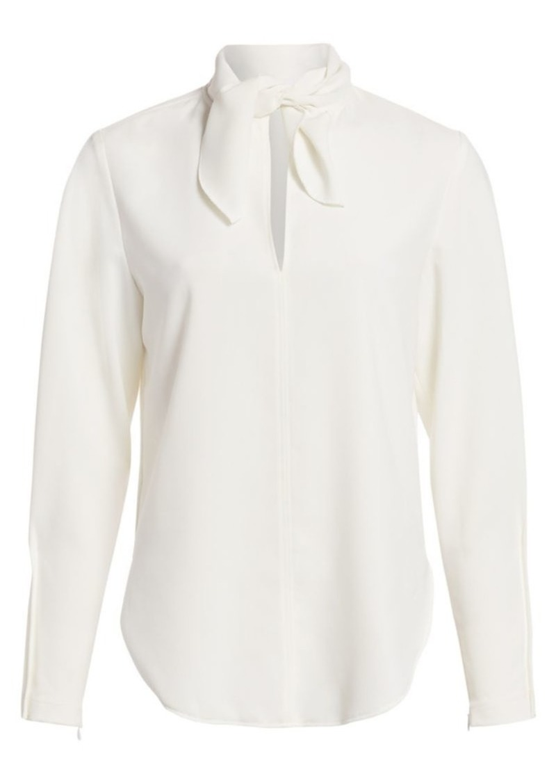 See by Chloé Tieneck Long-Sleeve Crepe Blouse