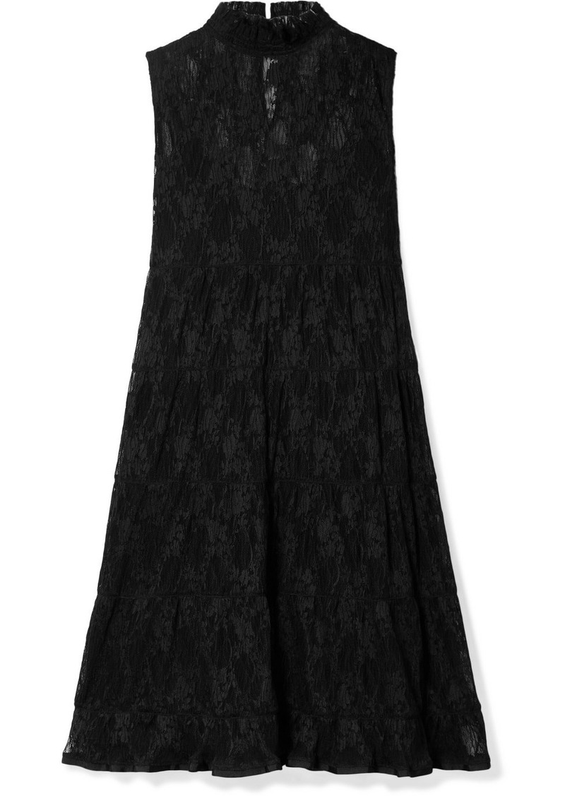 See by Chloé Tiered Lace Mini Dress