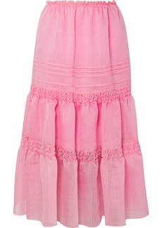 See by Chloé Tiered Organza Midi Skirt