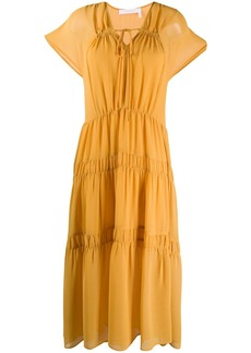 See by Chloé tiered ruched dress